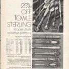 """1976 Bon Marche Ad """"Towle Sterling"""""""
