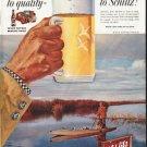 """1958 Schlitz Beer Ad """"Move up"""""""