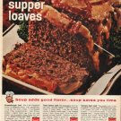 """1961 Campbell's Soup Ad """"3 souper supper loaves"""""""