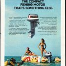 """1976 Evinrude Ad """"The compact fishing motor"""""""