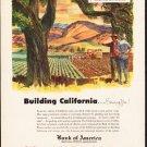 "1953 Bank of America Ad ""Building California"""