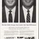 """1958 Arrow Shirt Ad """"It's the little things"""""""