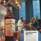 "1968 Seagram's Ad ""The Bartender's Right Arm."""