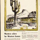 """1953 Monsanto Ad """"Western colors for Western homes"""""""