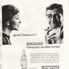 """1961 Bacardi Rum Ad """"good Daiquiri?"""""""