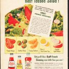 "1953 Kraft Ad ""Tossed Salad"""