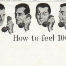 "1958 Bell Telephone System Ad ""feel 100% better"""