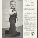 """1958 Parke-Davis Ad """"what we work for"""""""