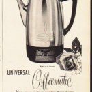"1953 Universal Coffeematic Ad ""on America's Smartest Tables"""
