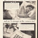 """1953 Lady Pepperell Ad """"Snug Fit Sheets"""""""