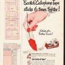 "1953 Scotch Tape Ad ""New Formula"""