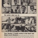"""1967 Heart Fund Ad """"Number 1 Health Enemy"""""""