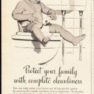 """1953 Hexol Germicide Ad """"Protect your family"""""""