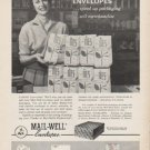 """1962 Mail-Well Envelopes Ad """"speed up packaging"""""""