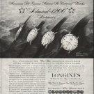 "1958 Longines-Wittnauer Ad ""Waterproof Watches"""