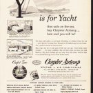 "1953 Chrysler Airtemp Ad ""Y is for Yacht"""