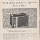 "1962 Zenith Radio Ad ""for the first time"""