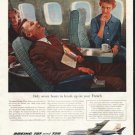 """1958 Boeing Ad """"Only seven hours"""""""