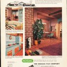 """1953 Mosaic Tile Ad """"Tile bids you welcome"""""""