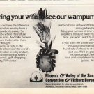 """1976 Phoenix Travel Ad """"Bring your wife"""""""