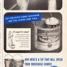 "1953 United States Steel Corporation Ad ""Boyco Cone Wringer"""
