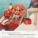 """1957 Johnson Motors Ad """"Go Fully Loaded"""""""