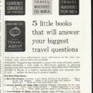 """1961 Holiday Pocket Guides Ad """"From your travel agent"""""""