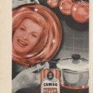 """1961 Cameo Copper Cleaner Ad """"Makes Copper Gleam"""""""