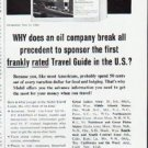 "1964 Mobil Travel Guide Ad ""break all precedent"""