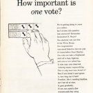 """1962 Newsweek PSA Ad """"How important"""""""