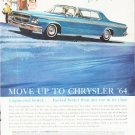 """1964 Chrysler Ad """"Move Up"""" ... (model year 1964)"""