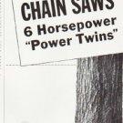 "1957 Homelite Chain Saw Ad ""Power Twins"""