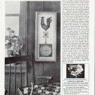 "1964 Curtis Publishing Company Ad """"Weather Vane"" Barometer"""
