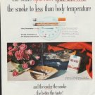 """1960 Old Gold Cigarettes Ad """"Spin Filter"""""""