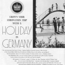"""1937 Germany Tourism Ad """"Holiday In Germany"""""""