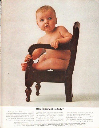 """1965 Prescription Drug Manufacturers Ad """"hopeless mental defectives"""""""