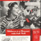 """1956 Pall Mall Cigarettes Ad """"Don't miss the fun"""""""