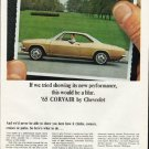 "1965 Chevrolet Corvair Ad ""new performance"" ~ (model year 1965)"
