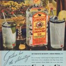 "1938 Gordon's Gin Ad ""Never Taste Thin"""