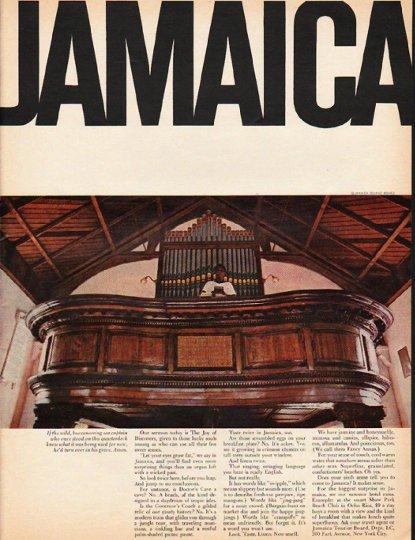 """1965 Jamaica Tourism Ad """"buccaneering sea captain"""""""