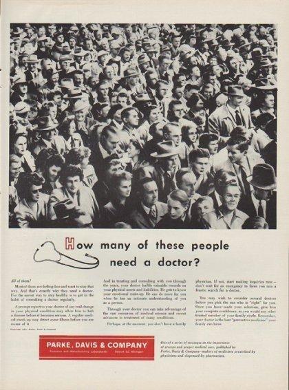 "1954 Parke, Davis & Company Ad ""these people"""