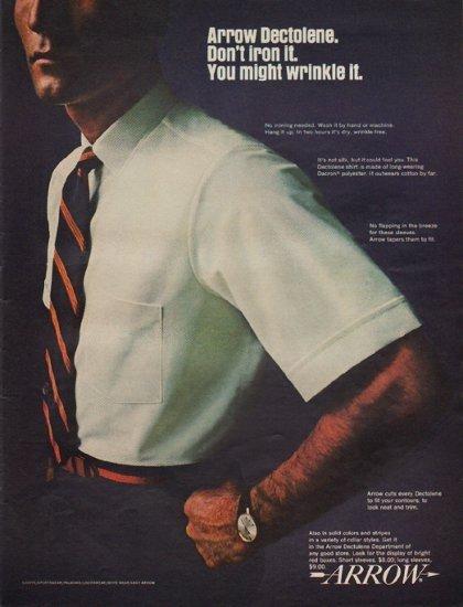 """1967 Arrow Shirt Ad """"Arrow Dectolene"""""""