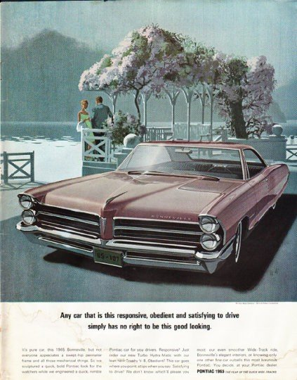 "1965 Pontiac Bonneville Ad ""good looking"" ~ (model year 1965)"