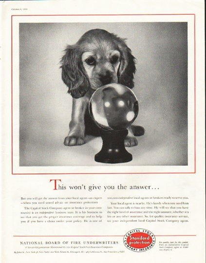"""1956 National Board of Fire Underwriters Ad """"the answer"""""""