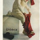"""1961 Mayo Spruce Ad """"a man who works outdoors"""""""