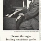 "1958 Lowrey Organs Ad ""Choose the organ"""