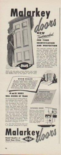 "1949 Malarkey doors Ad ""Now Trademarked"""