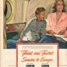 """1948 Pan American World Airways Ad """"Finest and Fastest"""""""