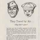 """1958 United Aircraft Corporation Ad """"They Travel by Air"""""""