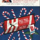 "1958 Pall Mall Cigarettes Ad ""This Christmas"""